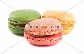 Three french macaroons