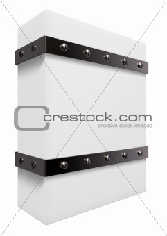 box with iron bands