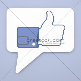 Thumb Up Sign on Speech Bubble for Blogs and Websites