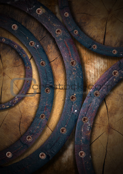 Wooden Grunge Background - Circles