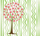 vector tree in blossom