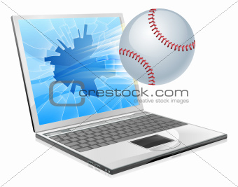 Baseball ball laptop