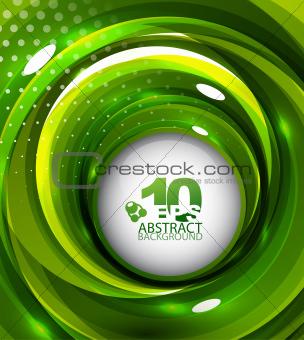 Green swirl background
