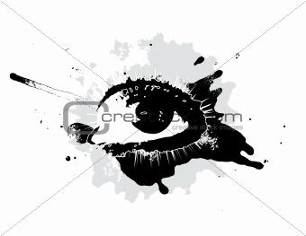 Grunge eye concept