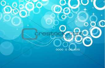 Abstract vector blue deep background