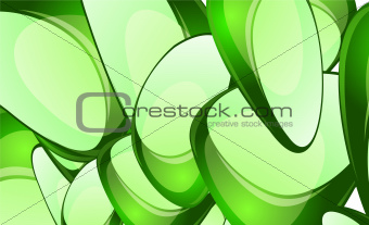 Abstract glass shapes