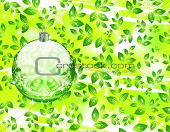 Green Christmas concept