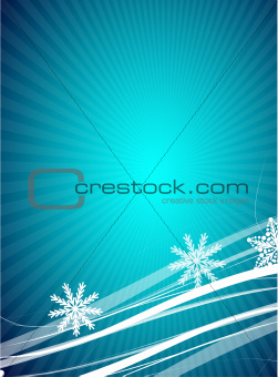 Blue Christmas lines background