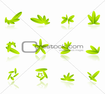 Abstract leaf compositions