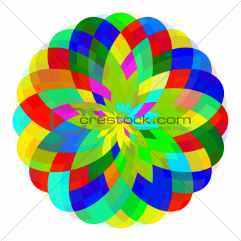 Abstract geometric colorful shape