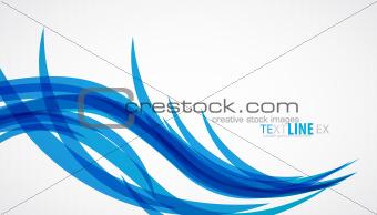 Blue wave vintage background