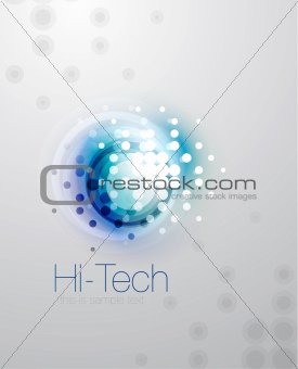 Abstract sparkling blurred shape background