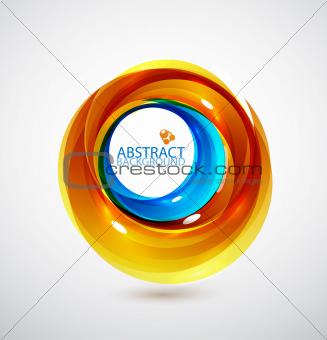 Blue and orange swirl background