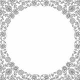 Vintage floral frames. Decorative patterns. Vector illustration.