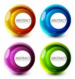 Abstract swirl set