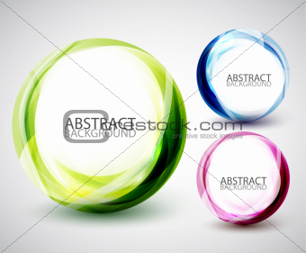 Abstract vector swirl set
