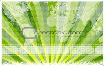 Green sky map nature vector background