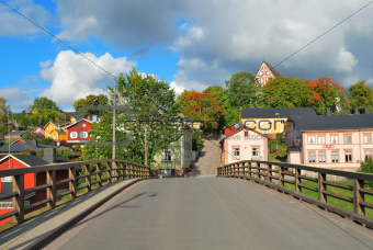 Porvoo, Finland. Old wooden  houses