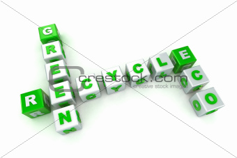 Green Eco Concept Crossword