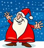 santa claus and snow cartoon illustration