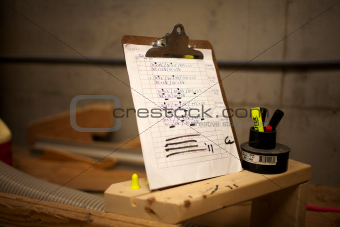 clipboard and marker