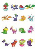 Set of baby dinosaurs