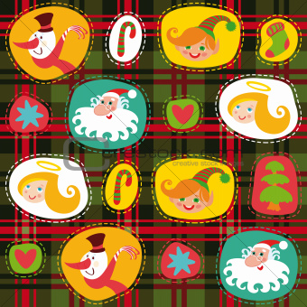 Christmas tartan, plaid pattern background, wrapping paper
