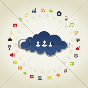 Business a cloud