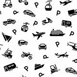 Seamless backdrop transport icons, wrapping paper, 10eps
