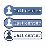 "Website Element: ""Call Center"" on White Background"