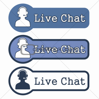"Website Element: ""Live Chat"" on White Background"