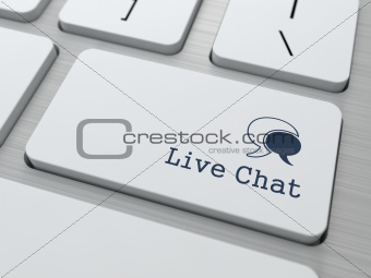 Live Chat Button on Modern Computer Keyboard