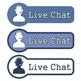 Website Element: &quot;Live Chat&quot; on White Background