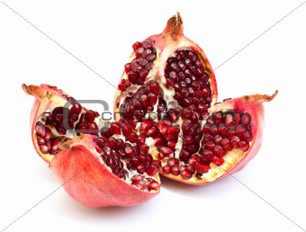 Broken pomegranate fruit