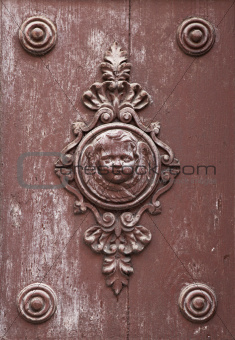 Antique door ornament