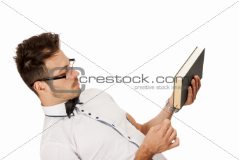 Man holding a book