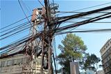 Power lines in Saigon