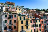 Washing Lines with Clothes in Riomaggiore, Cinque Terre, Italy