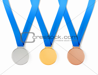 medals with path
