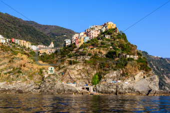 Sunset in the Village of Corniglia in Cinque Terre, Italy
