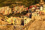Sunset in the Village of Manarola in Cinque Terre, Italy