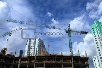 building crane on sky