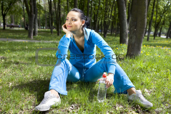 girl in sports suit