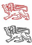 Ancient heraldic lion