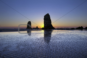 Haystack Needles Rocks at Cannon Beach