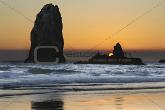Sunset Over Haystack Needles Rocks