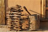 woodpile and mortal