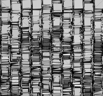 abstract fragmented backdrop pattern in chrome silver gray
