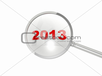 2013 New Year under magnifier