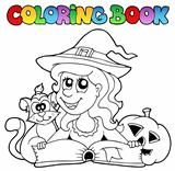 Coloring book Halloween topic 6